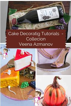 A Huge Collection of Cake Decorating Tutorials by Veena  Azmanov from Basic to Advance or Simple to elaborate