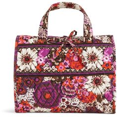 Vera Bradley Hanging Travel Organizer in Rosewood ($48) ❤ liked on Polyvore featuring home, home improvement, storage & organization, rosewood, travel and travel accessories