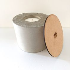 Concrete CANDLE (SPICE DEEP MUSK TOBACCO LAYERED WITH A HINT OF COFFEE AND FLORAL FRAGRANCE) Soy Wax Candles, Candle Wax, Concrete, Spice, Candle Holders, Fragrance, Deep, Coffee, Floral