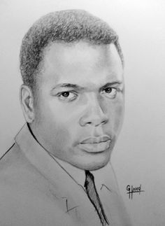 """Sidney Poitier .... 11""""x 14"""" pencil drawing by Greg Hand"""