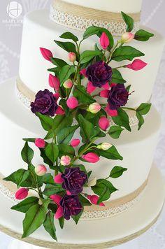 Fuchsia wedding cake | Flickr - Photo Sharing!