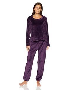 Polyester Imported Machine Wash This lounge set in cozy fleece features a  long-sleeve top with raglan shoulder seams and jogger-style bottoms with ... 191dc1f14