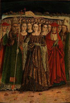 Saint Ursula and the Eleven Thousand Virgins / Santa Úrsula con las once mil vírgenes // Ca. 1490 // Maestro de las Once Mil Vírgenes