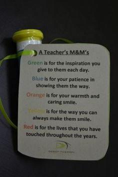 So cute for teacher appreciation!