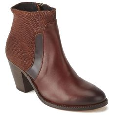 H Shoes by Hudson Women's Slade Snake Leather Heeled Ankle Boots - Tan: Image 41