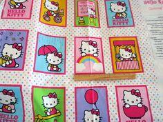Hello Kitty Story Quilt Panel fabric BTP by Loriscountryfabrics, $8.00