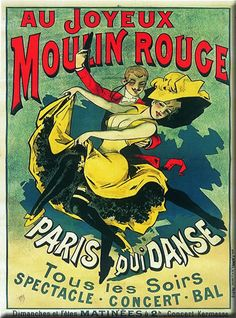 Advertisement for the Moulin Rouge by Alfred Choubrac, 1897