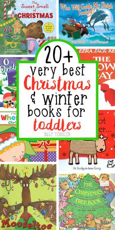 Best Christmas Books for Toddlers - Check out this list of 20+ Christmas Books for toddlers and preschoolers!