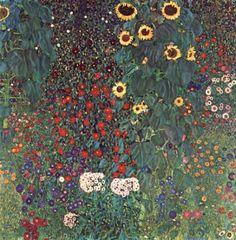 Country Garden with Sunflowers, Gustav Klimt. 1905-1906.