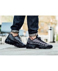 22c52c49a5 Nike Air Max 95 Ultra Jacquard Black Trainers Nike Air Max Trainers, Grey  Trainers,