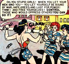 —Wonder Woman #32 (1948) script by Robert Kanigher, art by H.G. Peter