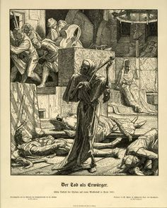 Alfred Rethel - the Strangler, The first outbreak of cholera at a masked ball in Paris 1831