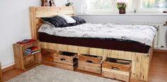 3 camas de palet con almacenaje incluido para ahorrar espacio