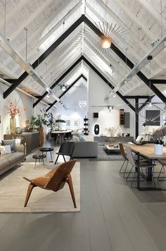 Sleek design with vaulted ceiling