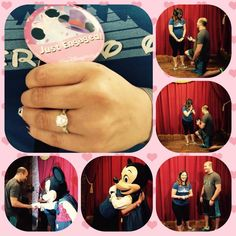A great idea of how I would like to be proposed to at Disneyland or Disney World.