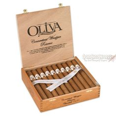 New $91.85 Online Cigar Deal: OLIVA CONNECTICUT RESERVE ROBUSTO DEAL added to our Online Cigar Shop https://cigarshopexpress.com/online-cigar-shop/cigars/cigars-oliva-connecticut-reserve/oliva-connecticut-reserve-robusto/ Oliva Connecticut ReserveRobusto · 5 × 50 This is a premium cigar! Famous Nicaraguan filler blend and a very silky smooth Connecticut wrapper covers these long filler leaves to ...