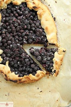Blueberry Crostata from Heather Christo Cooks