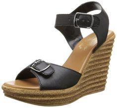 Callisto Women's Targa Wedge Sandal,Black,8 M US