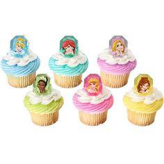 Cupcake Favor Rings - Disney Princess (24)