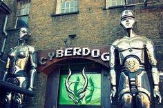 London, UK Gothic travel guide! ❤ Slimelight nightclub, Cyberdog rave fashion, Camden Market goth punk piercing / tattoo studios & alternative shopping in England... What did we miss?? Read:    http://www.lacarmina.com/blog/2013/03/london-gothic-travel-camden-market-punk-shops-cyberdog-slimelight/    cyberdog, camden market, london, cyber clothing store, rave fashion, cyberdog shop