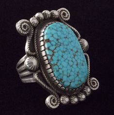 Size Navajo Natural Birdseye Kingman Turquoise Ring - R Kingman Turquoise, Turquoise Rings, Coral Turquoise, Turquoise Stone, Turquoise Bracelet, Pyrus, Blue Topaz Necklace, Cowgirl Bling, Jewelry Website