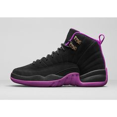 Girls' Air Jordan 12 Retro 'Hyper Violet' - Release Date. Nike.com ($50) ❤ liked on Polyvore featuring shoes