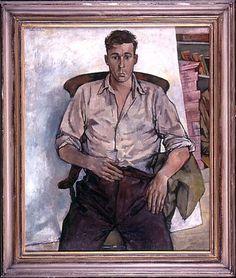 "John Minton 1956 ""Portrait of Bill"" History Of Illustration, Illustration Art, Guy Drawing, Painting & Drawing, Portrait Art, Male Portraits, Portrait Paintings, Portrait Ideas, John Minton"