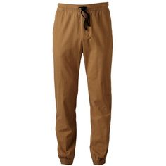 Men's Hollywood Jeans Stretch Twill Jogger Pants (31 CAD) ❤ liked on Polyvore featuring men's fashion, men's clothing, men's activewear, men's activewear pants, brown and mens activewear pants