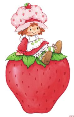 Walls 360 Peel & Stick Wall Decals: Strawberry Shortcake & Giant Strawberry in x 12 in) Strawberry Shortcake Characters, Strawberry Shortcake Birthday, Vintage Strawberry Shortcake, Giant Strawberry, Best Pixie Cuts, Rainbow Brite, Holly Hobbie, Vintage Cartoon, Paper Dolls