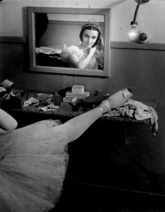 lacontessa:  Brassaï, Ludmilla Tchérina in the dress-room, 1945 —via art-mirrors-art