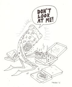 Pizza... eating... pizza... drawing by Ben Jensen