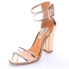 SANDALS BUCKLE HIGH HEEL (80 BRL) ❤ liked on Polyvore featuring shoes, sandals, high heel shoes, pastel shoes, buckle sandals, grunge shoes and high heeled footwear