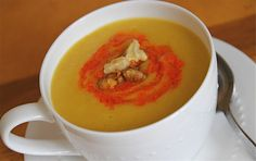 Pureed cauliflower potato soup