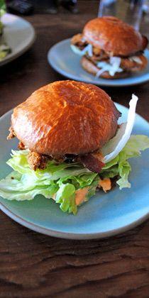 LA // Son of A Gun. Seafood small plates. Sister restaurant to Animal. Jon Shook & Vinny Dotolo. Tip: Fried-Chicken Sandwich