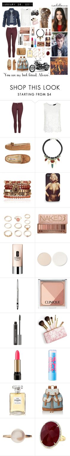 """Day 26: January 26, 2011"" by ninasmalrocks ❤ liked on Polyvore featuring Levi's, Topshop, Minnetonka, Samantha Wills, Forever 21, Urban Decay, Clinique, Stila, AERIN and Lancôme"