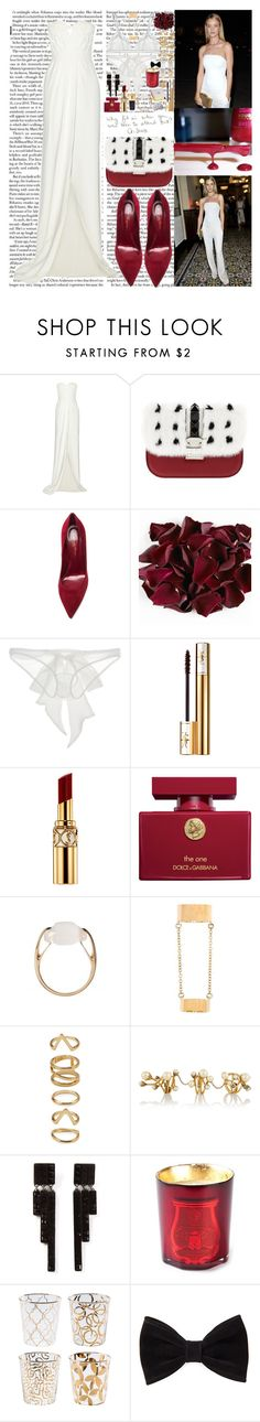 """""""I didn't know that I was starving 'til I tasted you Don't need no butterflies when you give me the whole damn zoo By the way, right away you do things to my body I didn't know that I was starving 'til I tasted you"""" by labelsoflove ❤ liked on Polyvore featuring Whiteley, Burberry, Valentino, Gianvito Rossi, Damaris, Yves Saint Laurent, Chanel, Dolce&Gabbana, Salvatore Ferragamo and Rebecca Minkoff"""