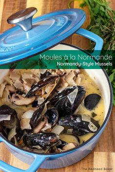 Haute cuisine in half an hour? Yes! Serve these delicious Normandy-style mussels in cider sauce with lots of crusty bread for dipping. #ProgressiveEats Recipes Using Fish, Duck Fat Fries, Marinated Cheese, Best Comfort Food, Comfort Foods, Progressive Dinner, Group Meals, Mussels, Normandy