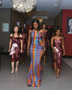 Kente Fabric Designs: See These Kente Styles For Fashionable Ladies - Lab Africa African Prom Dresses, Latest African Fashion Dresses, African Print Fashion, African Dress, African Style, African Wedding Attire, African Attire, African Traditional Wedding Dress, Kente Dress