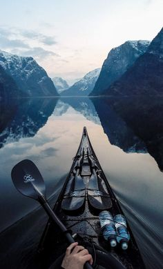 Kayak through a Fjord Beautiful World, Beautiful Places, Beautiful Norway, Simply Beautiful, The Places Youll Go, Places To Visit, Places To Travel, Travel Destinations, Travel Tips