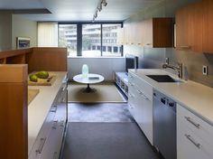Kitchen with TV area beyond - Contemporary - Kitchen - Dc Metro - Studio Santalla, Inc