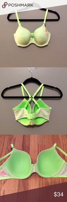 NWT Victoria's Secret Lined Perfect Coverage 34DD Light green, convertible straps, 3 rows of hooks. *Please submit reasonable offers thru offer tab. No trades.* Comes from pet/smoke free home. Victoria's Secret Intimates & Sleepwear Bras
