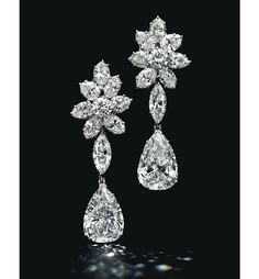 Diamond and platinum earrings Diamond Pendant Necklace, Diamond Jewelry, Gold Jewelry, Diamond Earrings, Fine Jewelry, Platinum Earrings, Stud Earrings, Silver Diamonds, Diamond Studs