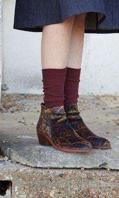 Liberty velvet boots - Plümo Ltd