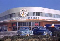 For all the improvements to photography over the years, there's still something special about those Kodachrome images. There's a vividness that makes me think I can reach through the screen and touch that Buick and that Oldsmobile parked outside the Rexall Drug Store that used to be on the corner of Beverly and La Cienega Boulevards, circa 1948. The building is still there and is still a pharmacy. No offense to CVS, but it doesn't quite have the same ring to it.