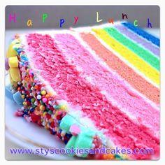 Rainbow Cake...Rainbow Cake...Rainbow Cake with cream cheese.... :9 YUMMY!