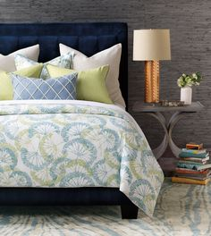 Linen Comforter, Bed Linens, Cotton Duvet, Tufted Bed, Bed Linen Design, Luxury Bedding Collections, Bed Duvet Covers, Architectural Digest, Fabric Decor