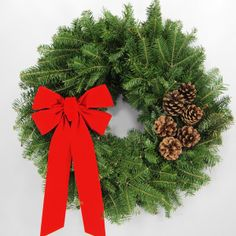 live christmas wreaths | Christmas Wreaths and Christmas Trees, Fresh Maine Balsam from Wreath ...