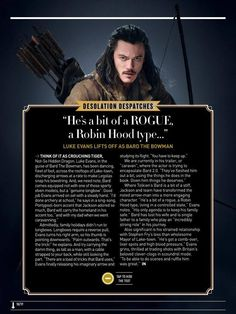 Empire Magazine, Luke Evans - December 2013