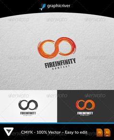 Fire Infinity Logo  #GraphicRiver         Item Details:   • Color CMYK   • Fully editable AI and EPS files   • Easy editable color and text   • Font Impact   • Two Color Variations   For additional information please contact me    The fonts can be Downloaded at myfonts :   .myfonts /fonts/ascender/impact/     Created: 21October13 GraphicsFilesIncluded: VectorEPS #AIIllustrator Layered: Yes MinimumAdobeCSVersion: CS Resolution: Resizable