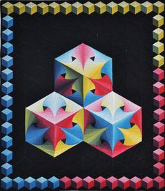196 Best Tumbling Blocks Quilts Images In 2019 Tumbling